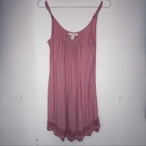 Forever 21 Pink Dress with lace trim